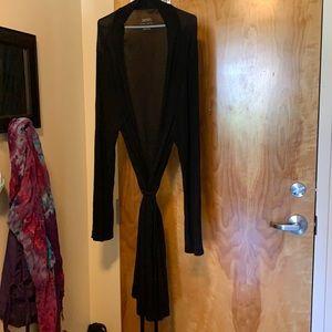 Black super soft robe XL/XXL